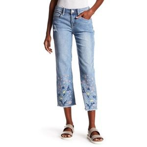 Seven7 Embroidered Ankle Skinny Jeans Size 12